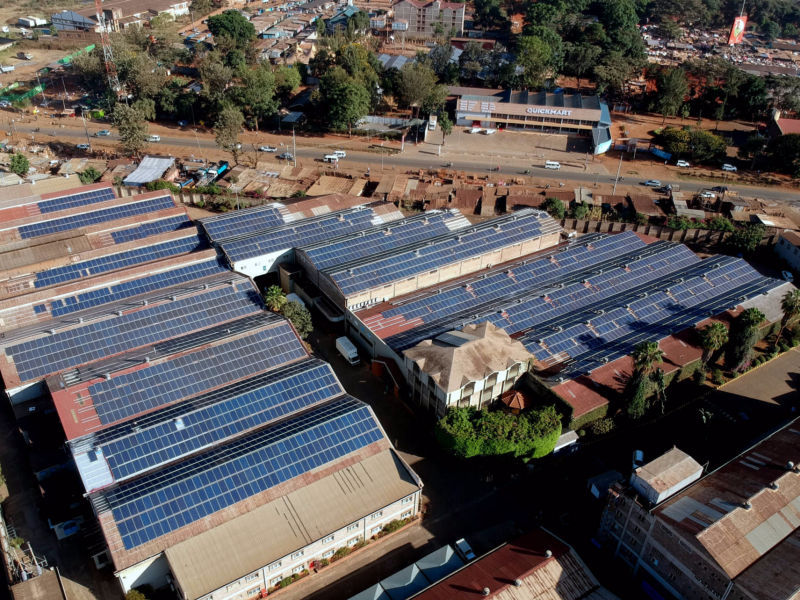 1.2 MW grid-tied | 8 days, Spinners & Spinners, factory, Kenya